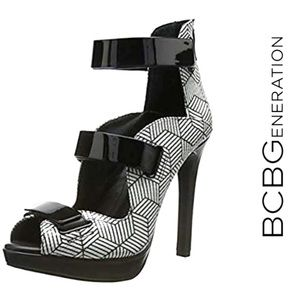 BCBGeneration Gala heels in black and white